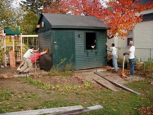 moving the garden shed