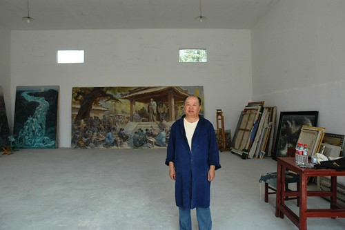 Studio and artist in Songzhuang