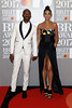 Azuka Ononye and Alesha Dixon attend The BRIT Awards 2017 at The O2 Arena on February 22, 2017 in London, England. (Photo by John Phillips/Getty Images)