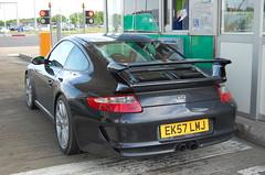 Porsche 997 GT3 MkI (D's Carspotting) Tags: porsche 997 gt3 mki france coquelles calais black 20100613 ek57lmj le mans 2010 lm10 lm2010