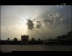 Glory!... Palace of King Akbar, India (CyrusMafi) Tags: life sky bw india white church cemetery sepia clouds contrast death perfect heaven photographer agra filter fabulous tempel the sillhuette akbarthegreat fineartphotos aplusphoto blaclk cyrusmafi