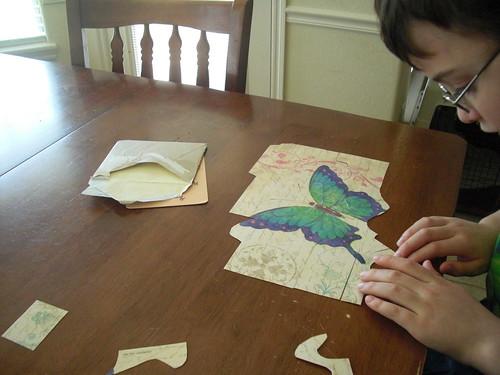 Assembling Puzzle Letter