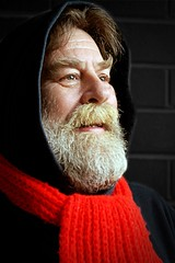 Getting ready for winter (Allan Saw) Tags: red portrait man male scarf self sp