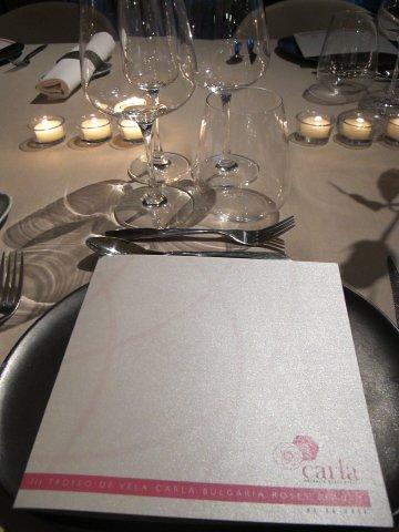 Menú de la Cena en el Hotel Guitart