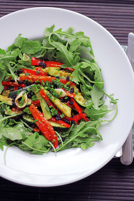 Peppers, Courgettes and Rocket