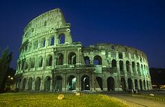 Coliseum @ Rome (riveralejo) Tags: city travel italy rome night europe nobody landmark worldheritagesite westerneurope lazio southerneurope capitalcity nationalcapital ancientperiodorstyle mediterraneanperiodorstyle romaprovince ironageperiodorstyle romanperiodorstyle