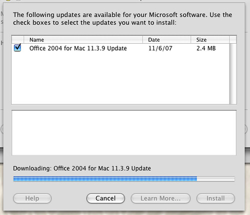 Office 10.3.9 Update