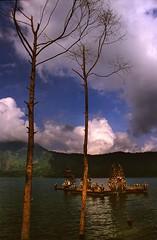 Balinese Hindu temple in the Lake Batur (wufgaeng) Tags: bali indonesia temple hindu lakebatur batur newscanneddiapositives