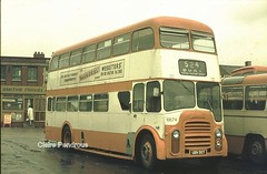 Under the weather in Bolton! (Lady Wulfrun) Tags: travel bus buses station 1974 double agency bolton 1970s smiths leyland decker ubn 907 selnec 6674 pd3