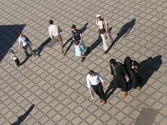 """shadow world"" (Pierre Metivier) Tags: street city hijab morocco maroc marrakech niqab placejemaaelfna"