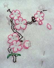 Cherry Blossoms in progress