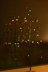 The Tree (Culinary Fool) Tags: christmas red holiday reflection tree window lights dinnerclub cookingclub culinaryfool bluebloodchristmas