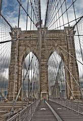 Brooklyn Bridge (Green Destiny) Tags: nyc bridge manhattan flag brooklynbridge cy2 challengeyouwinner news21