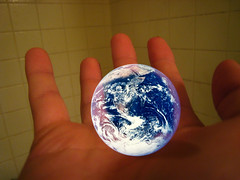 I've got the whole... (Bill Selak) Tags: photoshop lyrics globe hand quote song earth pad photoaday imagination msh msh1207 wwwbilladayblogspotcom msh120717