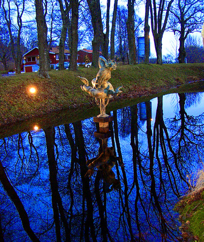 Skytteholm ~ Carl Milles statue in the pond