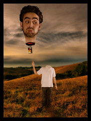 Full of Hot Air (Josh Sommers) Tags: hot composite photoshop big head air manipulation full 2b supershot weekendamerica