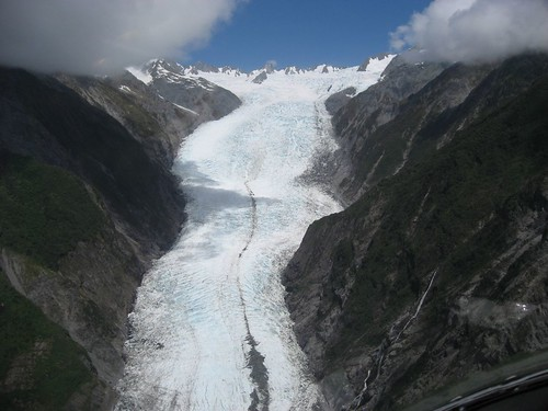 View of Franz Joseph Glacier from the chopper
