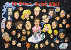 Ed Wood in Outer Space 1995 by Stephen B Whatley (Stephen B Whatley) Tags: portrait art sex stars tv artist drawing cigarette space smoke famous ghost cartoon police aliens dracula smoking galaxy hollywood exploitation parakeet planet devil murder celebrities transvestites tribute angora outerspace universe lovebird visualart ufos ghoul usairforce vampira belalugosi detective edwood criswell plan9fromouterspace milkyway bmovie glenorglenda mannekin torjohnson flyingsaucers jailbait edwarddwoodjr conradbrooks stevereeves mailanurmi thesinisterurge nightoftheghouls doloresfuller lorettaking gregorywalcott valdahansen monamckinnon kenneduncan stephenbwhatley timothyfarrell timothysperl