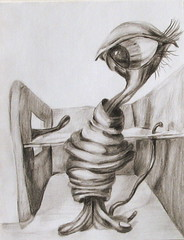 everything seemed alright until.. (Mary Lundberg) Tags: art pencil drawing fineart surreal cyclops imaginary lundberg