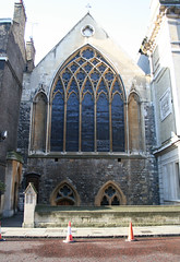 The remaining frontage of the church