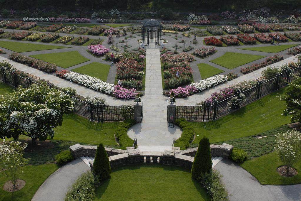 Above the Peggy Rockefeller Rose Garden