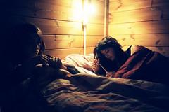 In the princess' bed (almogaver) Tags: anna film analog 35mm bed kodak dream catalunya joanna elitechrome 400asa analogic capdany kodakelitechrome llit kodakelitechrome400 almogaver camprodón capdany2007 davidroca
