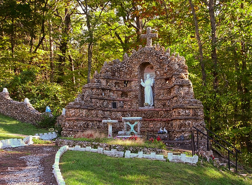 Black Madonna Shrine, in Eureka, Missouri, USA - grotto 1