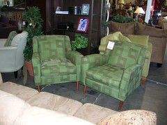 Furniture affair - green retro chairs