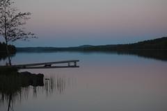 Lake in Lappland, Sweden (Summer 2007) (Rudi Pauwels) Tags: summer lake landscape evening sweden lappland midnight norrland lycksele naturesfinest blueribbonwinner västerbotten mywinners nikond40 aplusphoto platinumheartaward naturallyartificial husbondliden