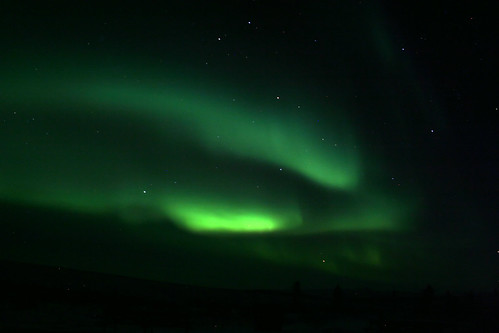 Northern lights at the Arctic Circle