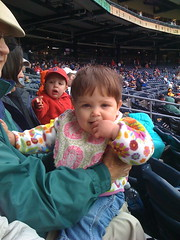 Eleanor at the baseball game