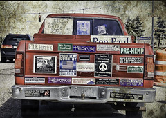 Opinionated (iceman9294) Tags: colorado coloradosprings bumpersticker chriscoleman opinionated iceman9294 bumperstickerpolitics