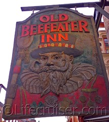 Old Beefeater Inn Pub sign