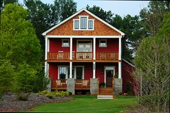 Cobblestone (Windridgedoc) Tags: red house home rural georgia rustic cobblestone oconee