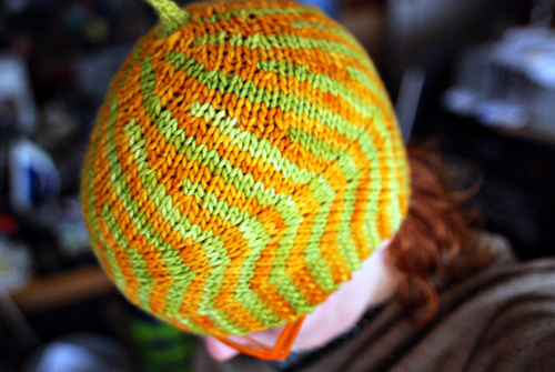Lee Meredith's short-rows wavy hat class + pattern