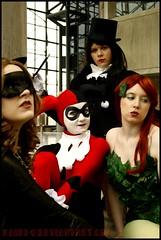 """Gothams Most Wanted"" (mew_pudding) Tags: new york girls woman man cat comics penguin dc 60s doll comic gallery dolls bat ivy harley ugly batman quinn joker rogue poison pamela gotham catwoman con isley zatanna rogues harleen nycc quinzel"