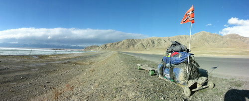 The rig on a plateau near Santai, Xinjiang Province, China