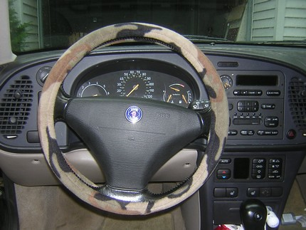 Camo Steering Wheel Cover - $5