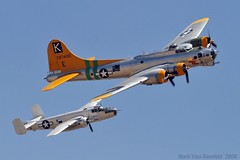 World War II Bombers (mvonraesfeld) Tags: museum aviation air airshow explore b17 medium boeing mitchell heavy bomber flyingfortress chino b25 northamerican