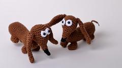 Lotje (arina23111963) Tags: dendennis crochet amigurumi dachshund crochetlovers lepra
