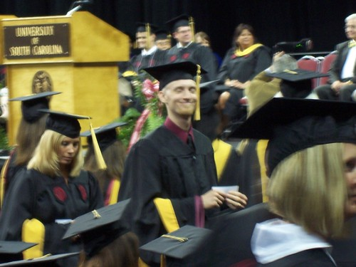 the cutie going up to get hooded