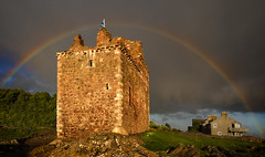 Portencross Rainbow (stoneleighboy) Tags: castle scotland rainbow nikon ayrshire portencross ayrshirecoast
