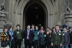 Hosting a youth group in Parliament