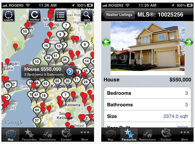 The BC Real Estate Locator App For iPhone & iPad