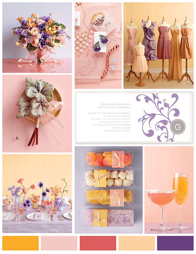 Pink Purple and Orange Wedding
