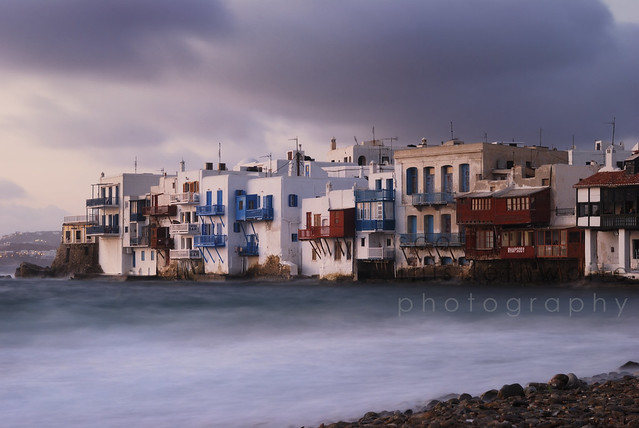 Storm at Little Venice, Mykonos