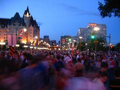 Bustling Crowd in Ottawa