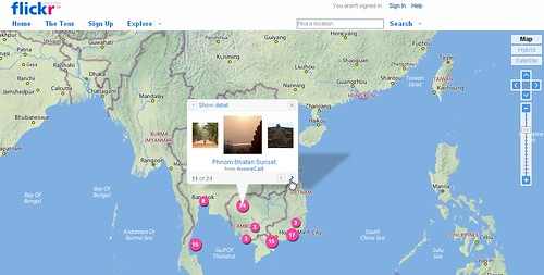 Screenshot of Flickr Maps
