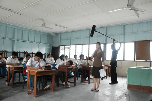Shooting the classroom scenes in KURUS
