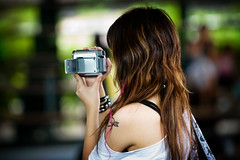 Wrong camera, Flickr don't support video ! (kktp_) Tags: school woman girl tattoo female student nikon dof bokeh bangkok sony camcorder 70200mmf28gvr d80 abigfave artlibre aplusphoto diamondclassphotographer flickrdiamond